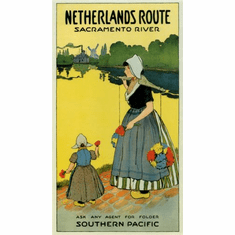 Netherlands Routes Mini poster 11inx17in