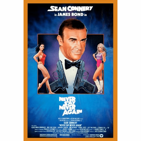 Never Say Never Again Movie Poster James Bond 24inx36in