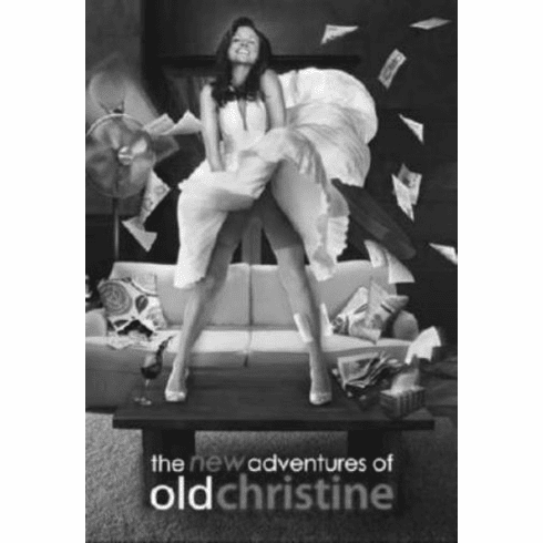 "New Adventures Of Old Christine Black and White Poster 24""x36"""