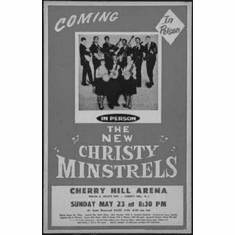 """New Christy Minstrels Black and White Poster 24""""x36"""""""