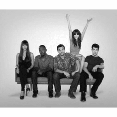 "New Girl Black and White Poster 24""x36"""