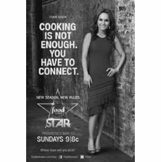 """Next Food Network Star Black and White Poster 24""""x36"""""""