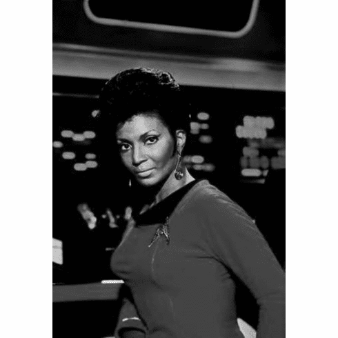 "Nichelle Nichols Black and White Poster 24""x36"""