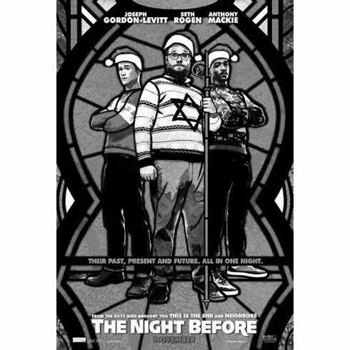 "Night Before Black and White Poster 24""x36"""