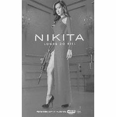 "Nikita Black and White Poster 24""x36"""