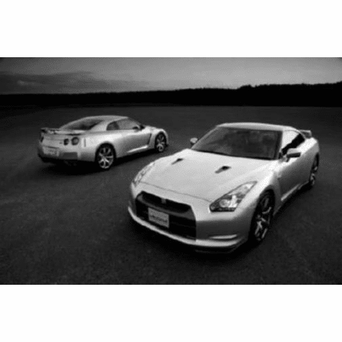 "Nissan Gtr Black and White Poster 24""x36"""