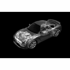 """Nissan Gtr Cutaway Black and White Poster 24""""x36"""""""