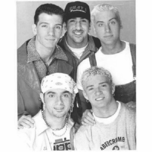 """Nsync Black and White Poster 24""""x36"""""""