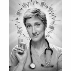 "Nurse Jackie Black and White Poster 24""x36"""