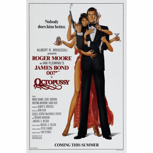 Octopussy Movie Poster James Bond 24inx36in
