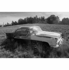 Oldsmobile Holiday Black And white 11in x 17in Poster Print