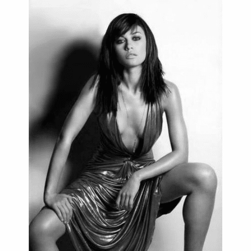 "Olga Kurylenko Black and White Poster 24""x36"""
