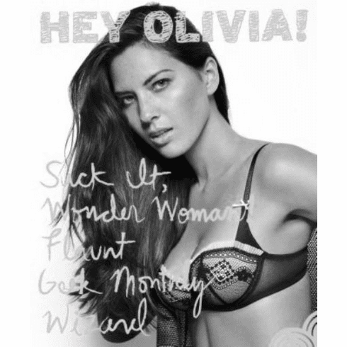 "Olivia Munn Black and White Poster 24""x36"""