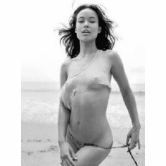 """Olivia Wilde Black and White Poster 24""""x36"""""""