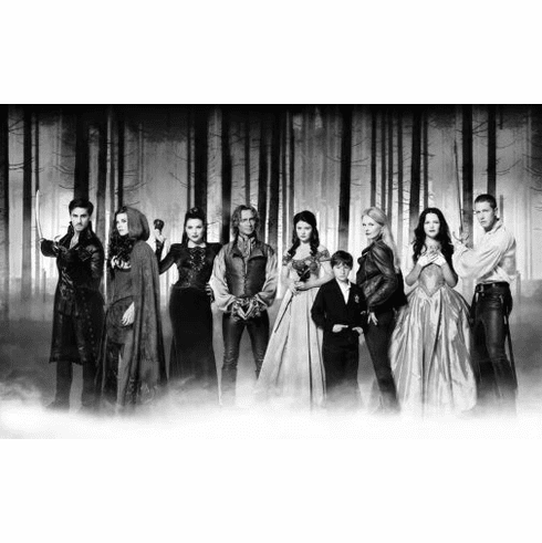 """Once Upon A Time Black and White Poster 24""""x36"""""""