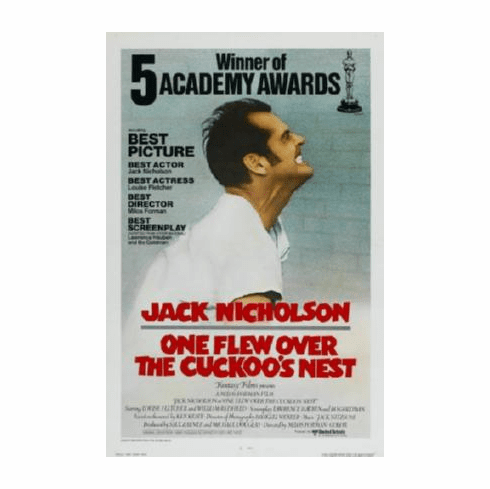 One Flew Over The Cuckoos Nest Movie Poster 24inx36in