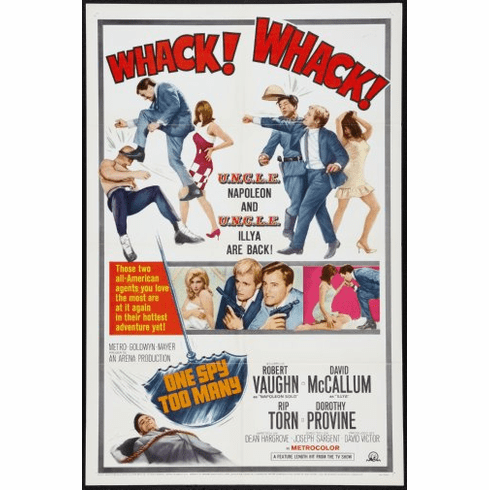 One Spy Too Many Movie Poster 24inx36in