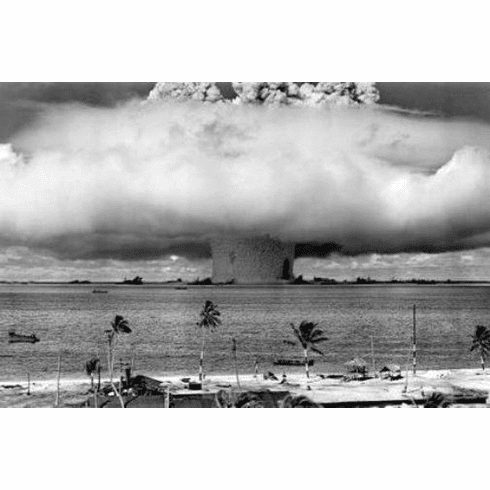 "Operation Crossroads Baker Black and White Poster 24""x36"""