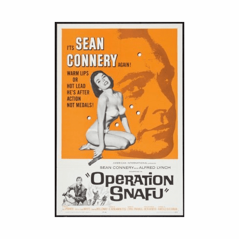 Operation Snafu Movie Poster 24x36 Sean Connery