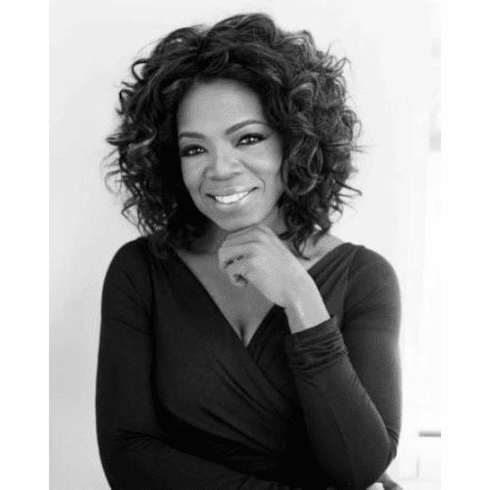 "Oprah Winfrey Black and White Poster 24""x36"""