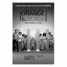 "Orange Is the New Black Black and White Poster 24""x36"""