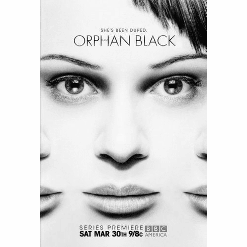 "Orphan Black Black and White Poster 24""x36"""