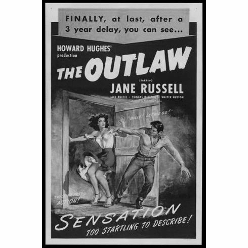 "Outlaw Black and White Poster 24""x36"""