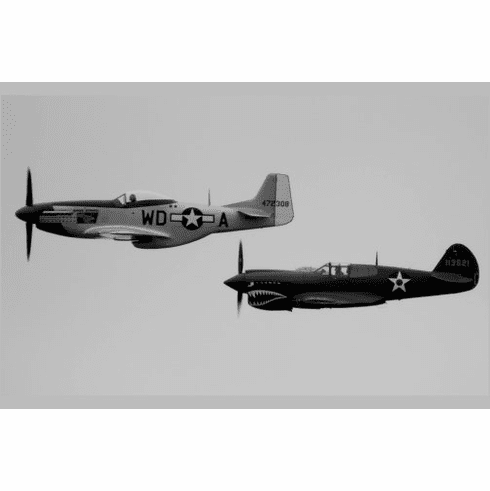P40 P51 Poster Mustang Military Airplanes 24inx36in