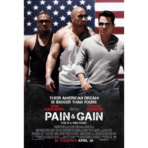 Pain And Gain Movie Poster 24inx36in Poster