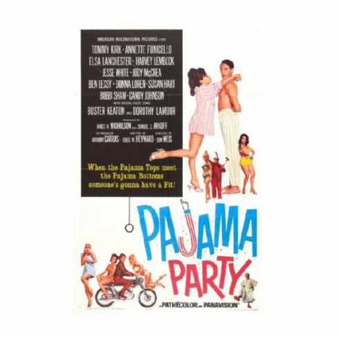 Pajama Party Movie Poster Annette Funicello 24inx36in