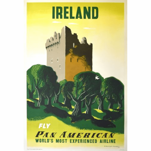 Pan Am Airlines Ireland Poster 24in x36in