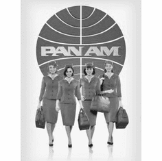 """Pan Am Black and White Poster 24""""x36"""""""