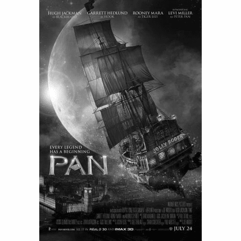 "Pan Black and White Poster 24""x36"""
