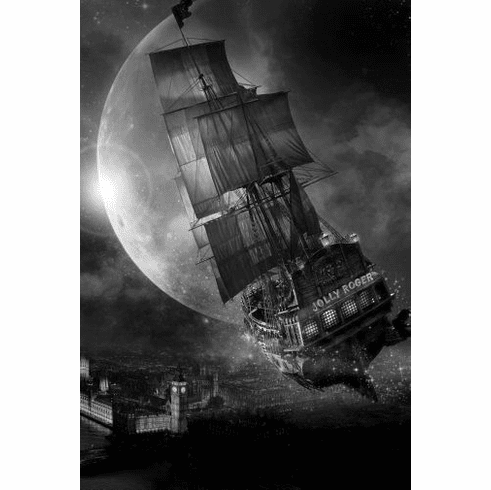 """Pan Black and White Poster 24""""x36"""""""