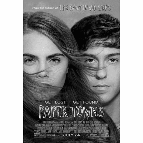 "Papertowns Black and White Poster 24""x36"""