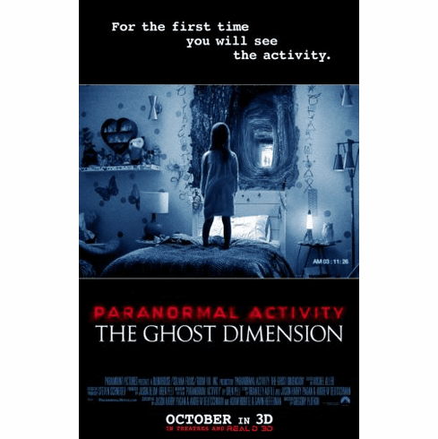 Paranormal Activity Ghost Dimension Movie Poster 24in x36in