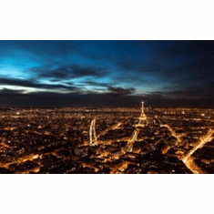 Paris At Night Skyline Mini #01 Eiffel Tower 8x10 photo master print