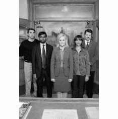 """Parks And Recreation Black and White Poster 24""""x36"""""""