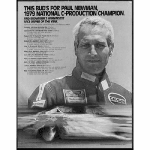 "Paul Newman Black and White Poster 24""x36"""