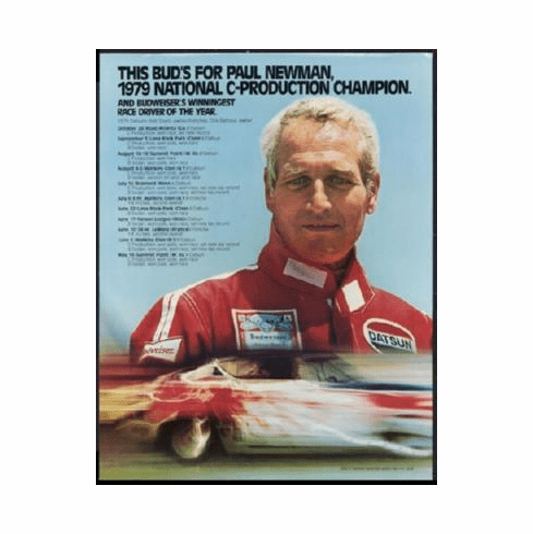 Paul Newman Poster Race Driver 24inx36in