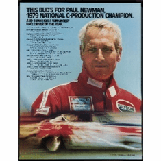Paul Newman Racing 8x10 photo master print