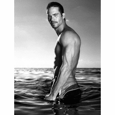 """Paul Walker Black and White Poster 24""""x36"""""""