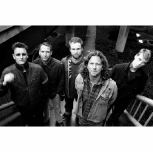 "Pearl Jam Black and White Poster 24""x36"""