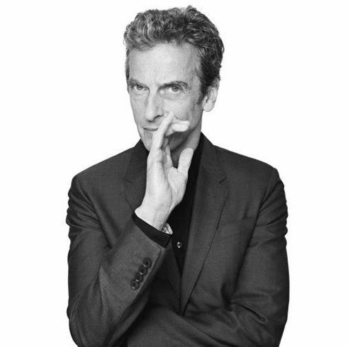 "Peter Capaldi Black and White Poster 24""x36"""