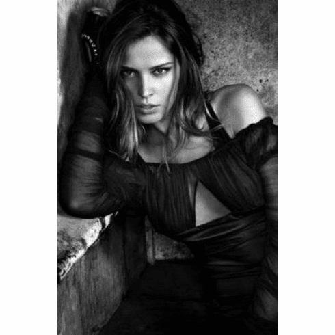 "Petra Nemcova Black and White Poster 24""x36"""