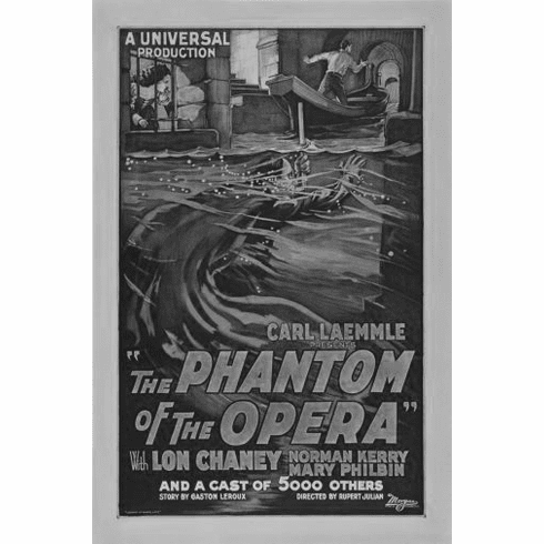 "Phantom Of The Opera Black and White Poster 24""x36"""