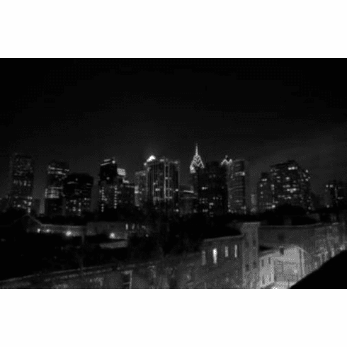 "Philadelphia Skyline Black and White Poster 24""x36"""