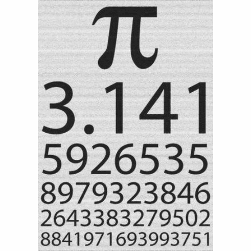 "Pi Black and White Poster 24""x36"""