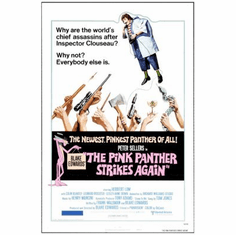 Pink Panther Movie mini poster Strikes Again 11x17 #01