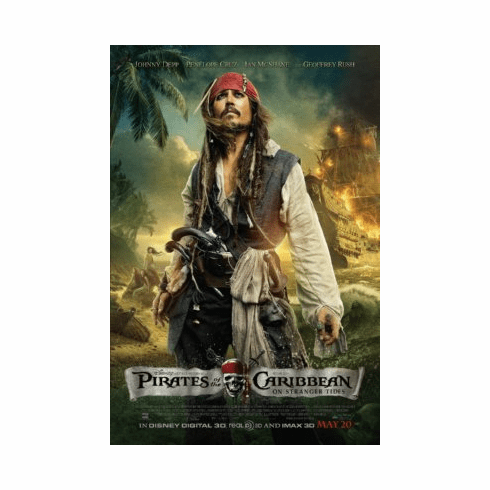 Pirates On Stranger Tides Mini Poster 11x17in Capt. Jack Sparrow